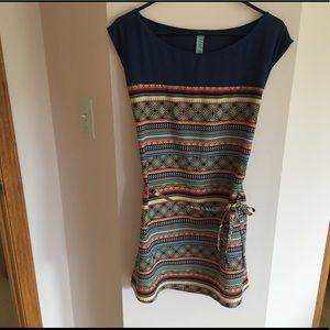 Francesca's Collections Mixed Media Dress